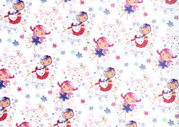 2 Gift Wrapping Paper Sheet Tag Gift Birthday Party Kid Child Flat Wrap Roll Toy